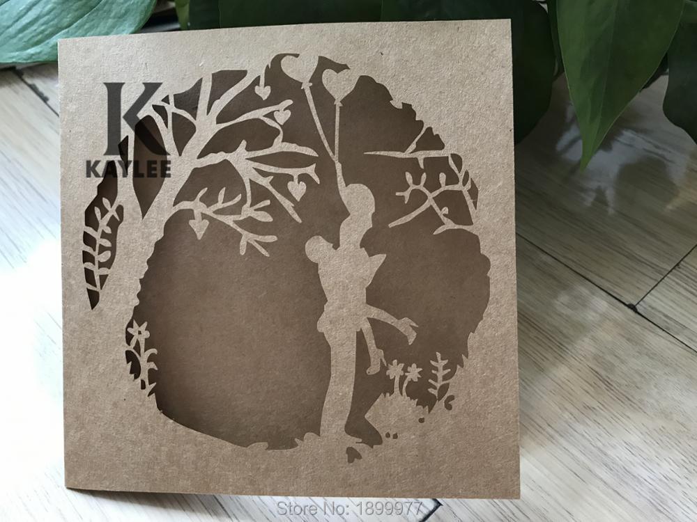 Romantic Lover Design Invitation Card for Wedding,Laser Cut ...