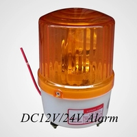 DC12V 24V Warning Alarm Construction Lamp Bulb Rotating Beacon Traffic Light Police Siren LTE 1121