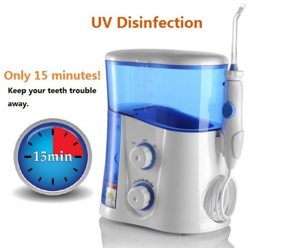 oral irrigator dental water flosser with uv sanitizer 1000ml water tank 7 tips with. Black Bedroom Furniture Sets. Home Design Ideas
