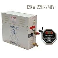 Free shipping Ecnomic type 12KW 220 240V STEAM BATH GENERATOR SAUNA ACCESSORIES
