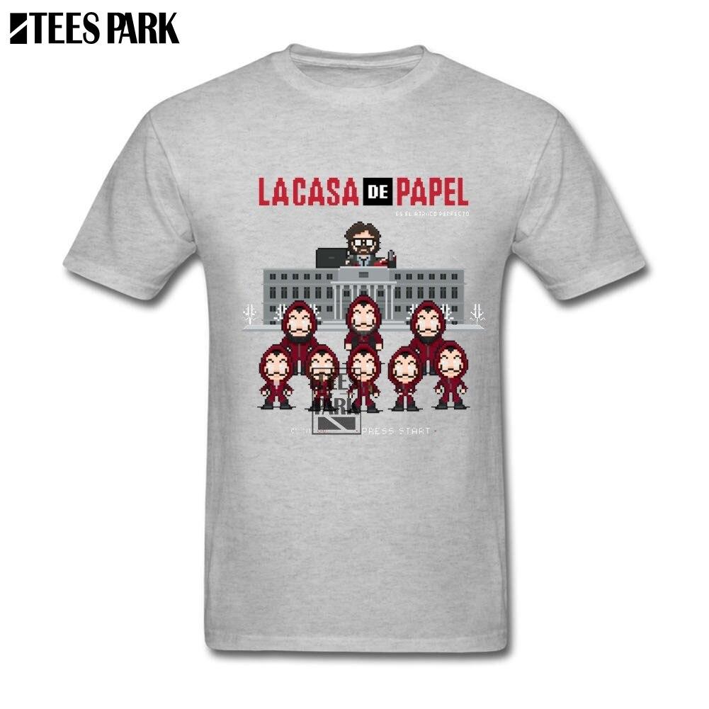 Large Size T-Shirt Money Heist La Casa De Papel Cool T Shirts Men Pre-Cotton Tee Shirt House of Paper T-Shirt Trendy T Shirts