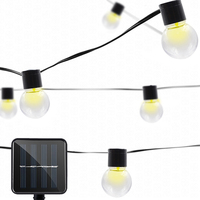 New Ip65 Waterproof Solar Powered String Lamp 10 LEDs Transparent Ball Outdoor Light Home Yard Party