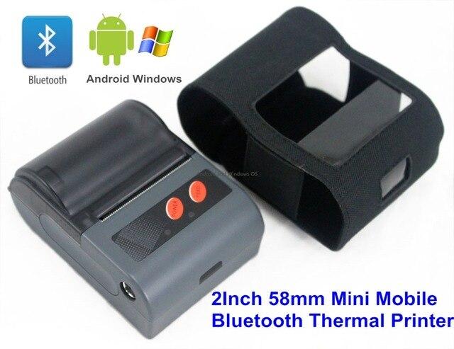 LS2 (L) 58 мм Мини Impressora Портативный Принтер, Bluetooth-принтер Android Принтер Штрих-Кода Принтер с Любым USB RS232