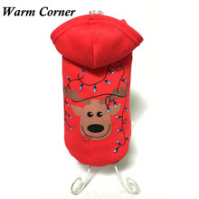 Warm Corner LM Pet Puppy Dog Christmas Clothes Costume Outwear Coat Apparel Hoodie Free Shipping Sept 19