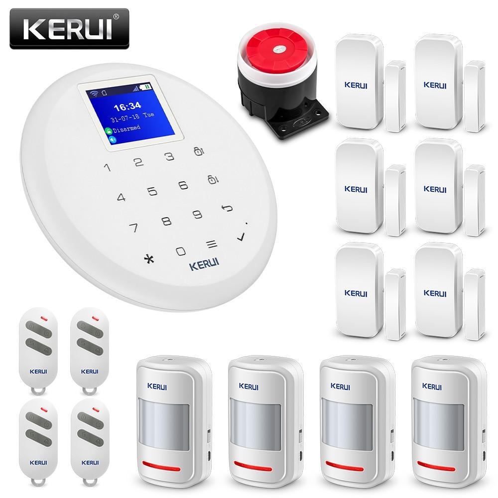 KERUI G17 1.7 Polegada TFT Touch Screen sistema de Alarme Home GSM Sistema de Alarme de Segurança Detector de Movimento Da Porta/Janela Do Sensor de Segurança alerta