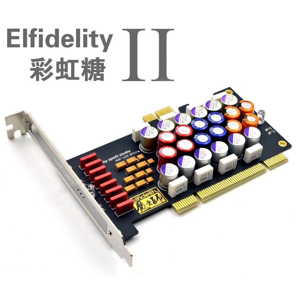Elfidelity Rainbow Sugar2 HIFI PC Audio Power Filter Card PCI PCI Express Filter Price $58.99