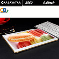 Carbaystar branco puro 9.6 polegada s960 octa core 1.5 ghz android 4g lte tablet android pc tablet inteligente mt6592 tablette computador
