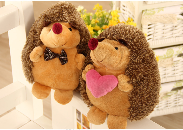 lovely cartoon hedgehog large 30cm plush toy couples lovers hedgehogs soft doll throw pillow birthday,wedding gift w1737