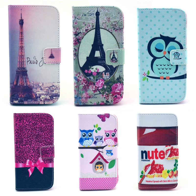 Wallet Case for funda coque Samsung Galaxy S4 mini i9190 Phone Cases for Galaxy S4 mini Phone Cover With Stand Card Holder