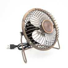 Portable 4 Inch USB Cooling Fan Small 4 Blades Desk USB Cooler Super Mute Silent Mini