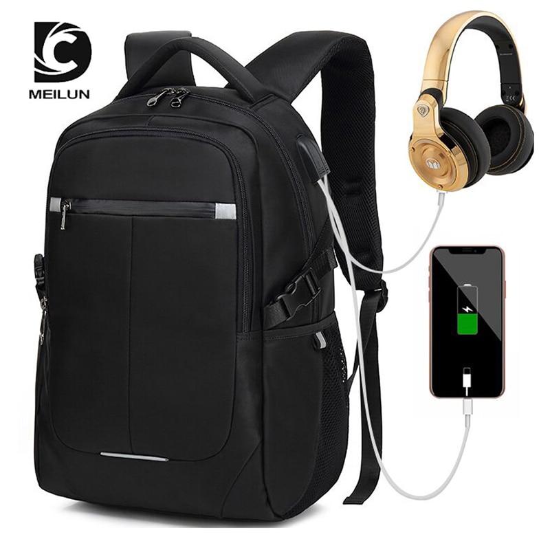 DC.MEILUN Anti thief USB bagpack Reflective laptop backpack for women Men school backpack Bag for teens boy Male Travel Mochila