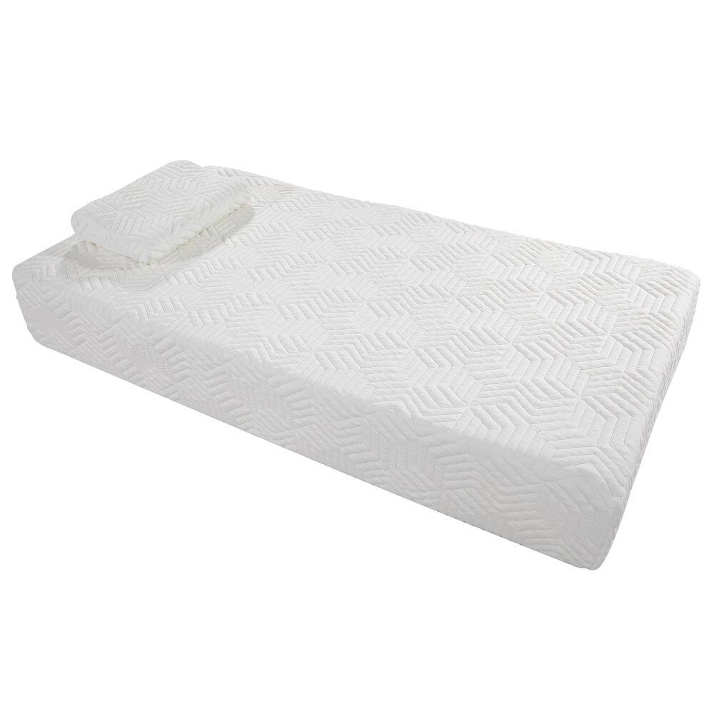 10 trois couches Cool moyenne haute douceur coton matelas avec 2 oreillers (taille double) blanc livraison directe10 trois couches Cool moyenne haute douceur coton matelas avec 2 oreillers (taille double) blanc livraison directe
