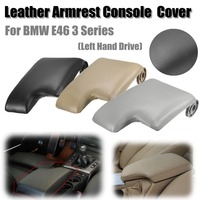 New Leather Armrest Cover w/ Plastic Plate for BMW E46 3 Series 1999 2005 Left Hand Drive Black/Grey/Beige