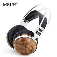 100 Original High End MSUR N550 HiFi Wooden Metal Headphone Headset Earphone With Beryllium Alloy Driver