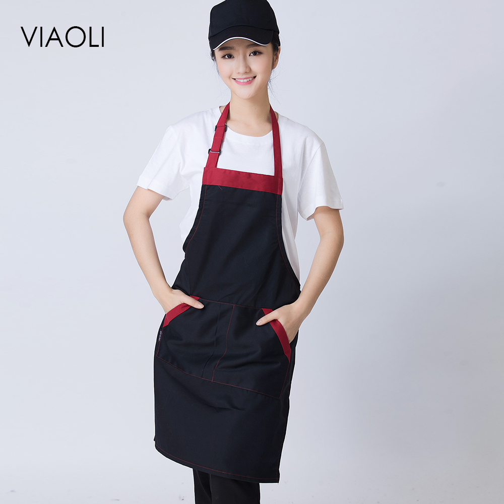Women Men Chef Aprons 3 Colors High Quality Wholesale Kitchen Hotel Coffee Shop Bakery Chef Waiter Cleaning Cook Workwear Aprons