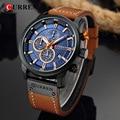Часы CURREN Мужские  брендовые  Роскошные  синие  мужские  кварцевые часы CURREN  наручные часы Hodinky