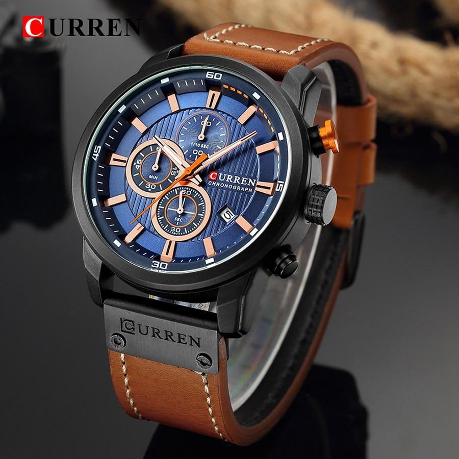 CURREN hombres relojes Top marca de lujo azul reloj hombre cuarzo relojes hombres CURREN reloj Hodinky Relogio Masculino