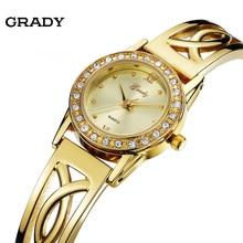 Грейди Марка 18 К Позолоченные Женщины Часы с 1 Год Гарантии дамы Кварцевые Часы Женщин Наручные Часы relógio feminino