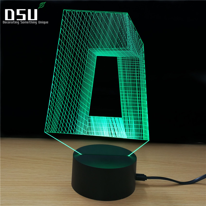 3D Abstract Building Visual Night Light Colorful Strange Shape LED Table Lamp Bedroom Decor Lighting Touch Control