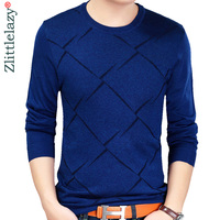 2018 brand new hot casual social argyle pullover men sweater shirt jersey clothing pull sweaters mens fashion male knitwear 602