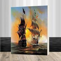 Seascape Sailing Boat Europe Art Canvas Painting DIY Painting By Numbers Oil Painting On Canvas Home