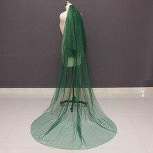 Sparkling Green welon slubny z złoty pył Glitters 2T welon ślubny z różu akcesoria ślubne Voile Mariage