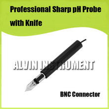 Free Shipping  pH electrode sensor Professional Sharp pH Probe with Knife For measuring meat, cream, fruits, half solid ect.
