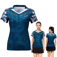 2019 Genuine Kawasaki ST-S1106 ST-S1110 Badminton Sports T-shirt Men And Women V-neck Short-Sleeved Blouse Breathable Clothes(China)