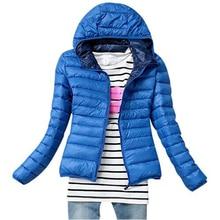 5 Color 2016 New Winter Jacket Women Outerwear Slim Hooded Down Jacket Woman Warm Down Coat padded