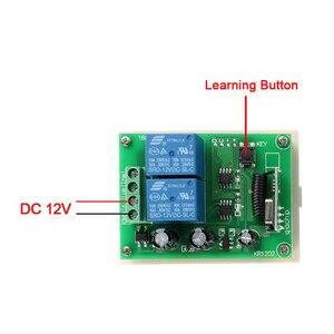 Image 2 - QIACHIP 433 Mhz Universel Sans Fil Commutateur de Commande À Distance DC 12 V 2CH RF Relais Récepteur Module + 2 CH RF 433 Mhz À Distance Émetteur