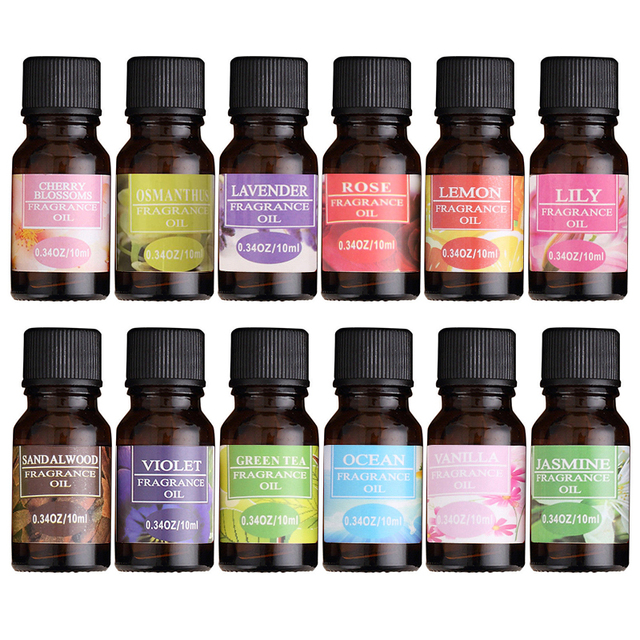 100% Pure Natural Essential Oils 10ml Essential Massage Aroma Oils Diffuser Burner Flower Fruit Humidifier Air Freshening TSLM1