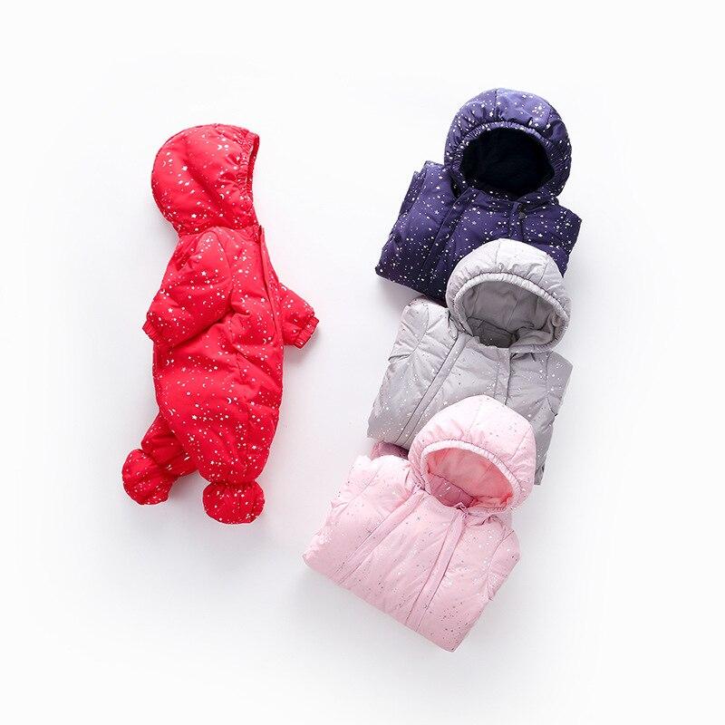 2019 nouveau-né bébé hiver chaud barboteuses mode à capuche épaississement vêtements infantile bébé garçons filles Outwear mignon joint doudoune