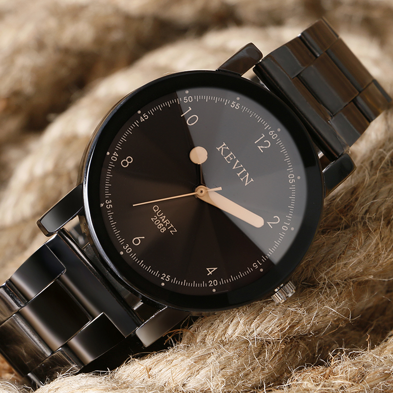 KEVIN Exquisite Ladies Watch Trendy Stainless Steel Band Strap Black/Beige Dial Women Watches Creative Simple Special Design цена