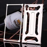 TX 럭셔리 금속 알루미늄 소니 Xperia Z3 D6603 D6633 전면 피부 보호 도구 나사 전화 가방 케이스