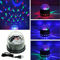 (US Plug) Voice Activated Color Changing LED Mini Stage Lighting For Home Entertainment RGB Crystal Ball For Disco DJ