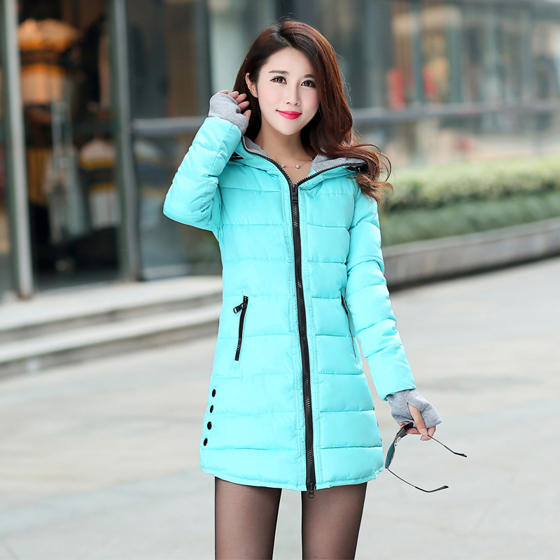 12 Colors Women Plus Size Female Hoodie Hooded Autumn Winter Long Sleeve Down Parka Slim Casual Quilted Chaquetas Jacket Coat 4