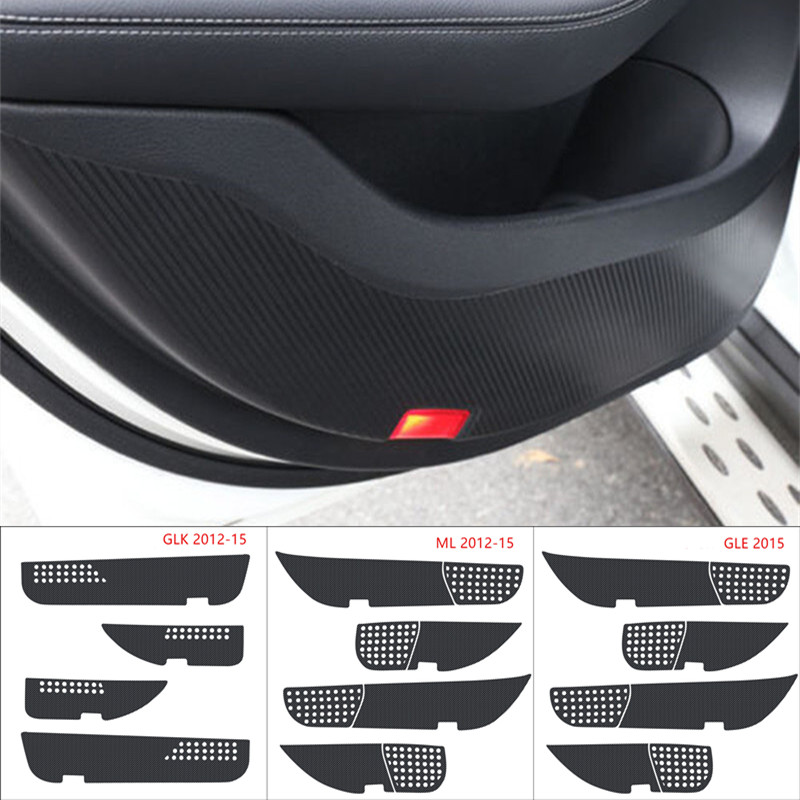 Carbon Fiber Stickers Car Door Anti Kick Pad Protection Mat For Mercedes Benz GLK 2012-2015/ML 2012-2015/GLE 2015