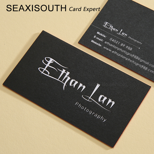 custom business cards high quality thick card printing debossed and embossed card edge color cards wild - High Quality Business Cards