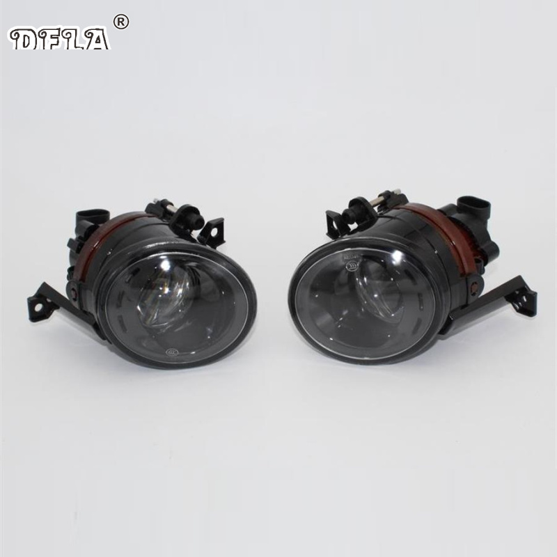 2pcs Car Light For VW Tiguan 2007 2008 2009 2010 2011 Car-Styling Front Halogen Fog Light Fog Lamp With Comvex Lens front fog lights for nissan qashqai 2007 2008 2009 2010 2011 2012 2013 auto bumper lamp h11 halogen car styling light bulb