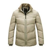 2016 Горячая Осень И Зима мужская Сплошной Цвет Slim Down Толщиной Хлопка Куртка Моды Личности Тонкий Мужчины Бренд Толщиной пальто