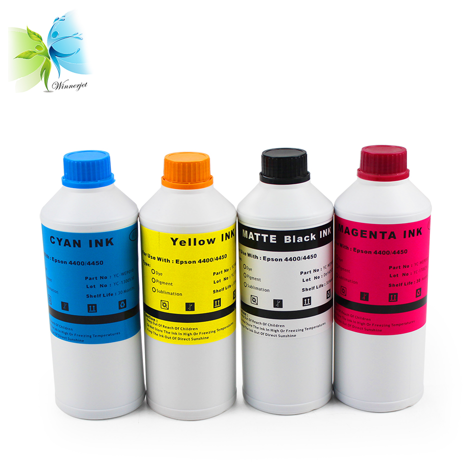 Winnerjet sublimation ink for Epson Stylus Pro 4400 4450 printer 1000ml/bottle with 4 colors