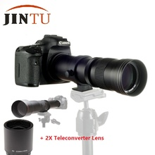 JINTU 420-1600mm f/8,3 HD телефотографические зум-объектив + 2X телеконвертер экспендер для объектива для Canon 750D 650D 600D 550D 500D 60D 80D 450D 1000D
