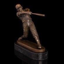 ATLIE BRONZE Sport Man Ballplayer Sculpture Modern Art Bronze Baseball Player Statue and Figurine Decoration