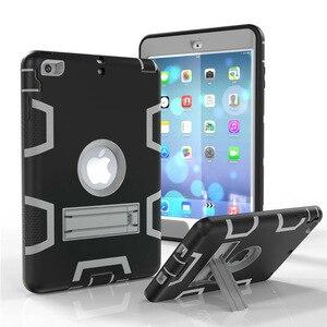 Image 1 - Moda pancerz Case dla iPad mini 1 2 3 Kid bezpieczne Heavy Duty silikonowa twarda okładka dla iPad mini 1 2 3 7.9 cal Tablet Case + Film + długopis