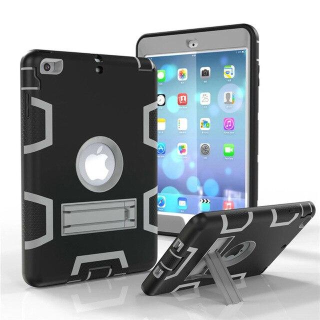 Moda pancerz Case dla iPad mini 1 2 3 Kid bezpieczne Heavy Duty silikonowa twarda okładka dla iPad mini 1 2 3 7.9 cal Tablet Case + Film + długopis