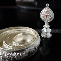 Manja,Tibetan Mandala,Decorative Art of Buddhism,The Buddhist Ritual,silver-white alloy,metal craft no fade