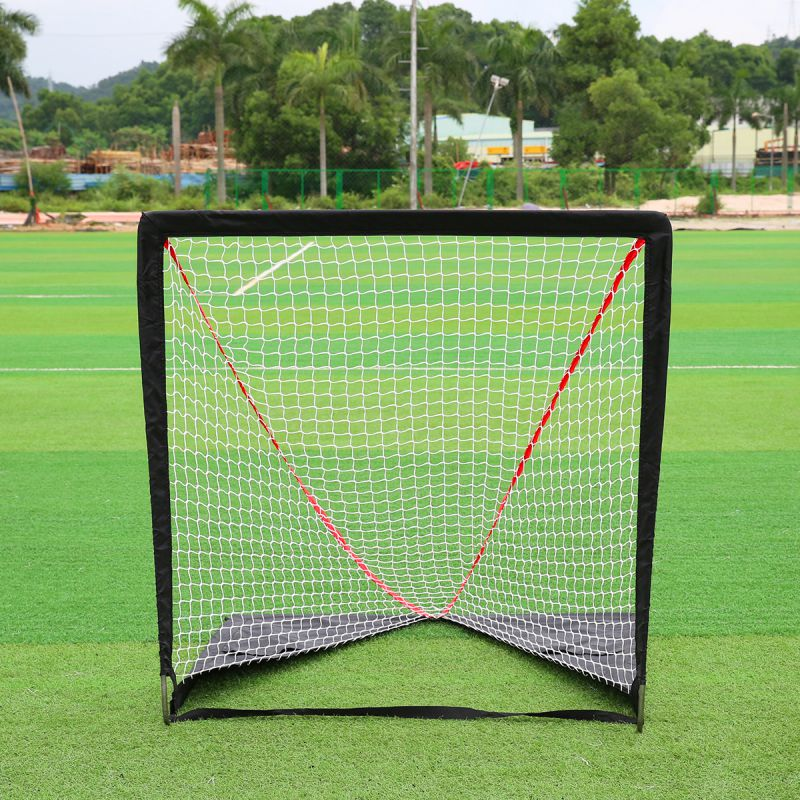 6*6 Activities Hockey Soccer Training Net Outdoor Sport Convenient Ball Steel Goal Field Hockey Training 2017 New Arrival