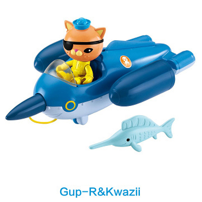 original Octonauts GUP-R and Kwazii vehicle figures toy, bath toy - child Toys original octonauts octonauts marine animals creatures figures toy sea turtle urchin white tip shark child toys minifigures