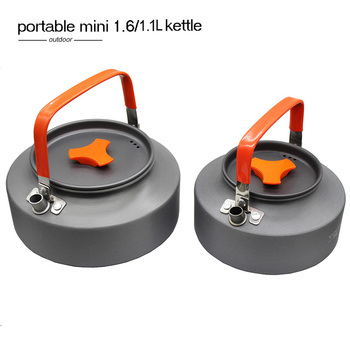 1.1L&1.6L camping kettle outdoor kettle Ultralight camping tableware travel tableware Outdoor Hiking Teapot outdoor picnic set