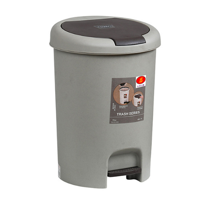 15l Home Wc Bathroom Garbage Cans Foot Pressing Type Trash Can